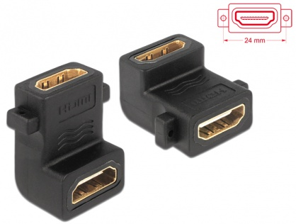 Adaptor HDMI in unghi M-M, Delock 65510