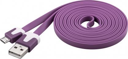 Cablu date si incarcare USB la micro USB-B Flat Mov 2m, Goobay W67561