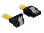 Cablu SATA II 3 Gb/s drept-unghi cu fixare, 70 cm, Delock 82482