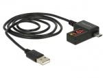 Cablu USB 2.0 la Micro-B cu indicator LED, Delock 83569