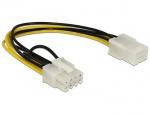 Cablu alimentare PCI Express 6 pini la 8 pini M-T, Delock 83775