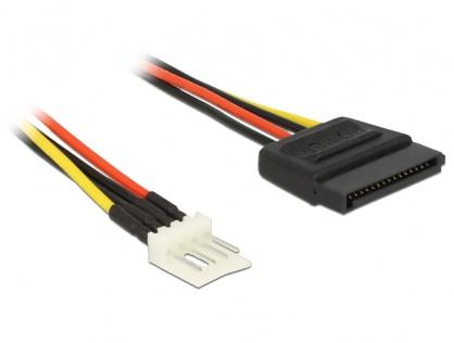 Cablu de alimentare SATA 15 pini la Floppy 4 pini 40cm M-T, Delock 83878