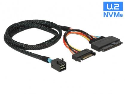 Cablu SFF-8643 la U.2 SFF-8639 + alimentare SATA 50cm, Delock 84819