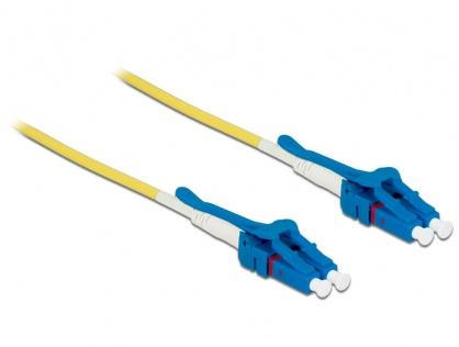 Cablu fibra optica LC - LC Singlemode OS2 Uniboot 1m, Delock 85083
