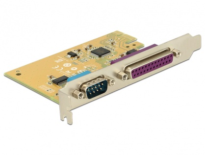 PCI Express cu 1 port serial RS232 + 1 x paralel DB25, Delock 89446