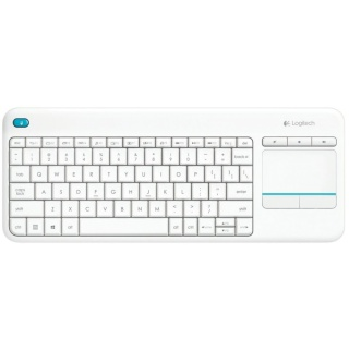 Tastatura wireless cu Touchpad K400 Plus Alb, Logitech