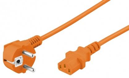 Cablu alimentare PC IEC C13 5m Orange, Goobay W95290