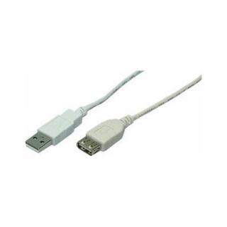 Cablu prelungitor USB 2.0 T-M gri 1.8m, Logilink CU0010