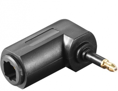 Adaptor audio digital optic Toslink la mini Toslink 3.5mm unghi