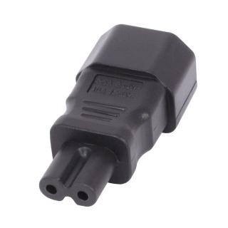 Adaptor IEC C7 2 pini casetofon IEC C14 3 pini M-T, Lindy L30452