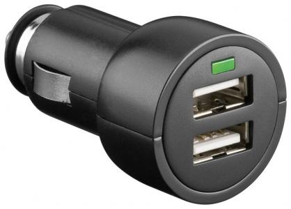 Incarcator auto 2x USB 3.1 A negru, Goobay 63518