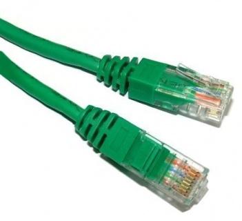 Cablu de retea UTP cat 5e 1m Verde, Spacer SP-PT-CAT5-1M-G
