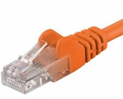 Cablu retea UTP cat 5e 0.25m orange, SPUTP002E