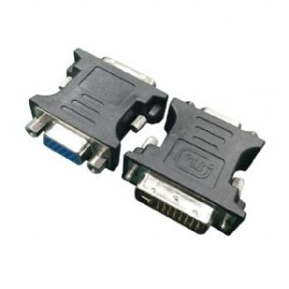 Adaptor DVI-I Dual Link 24+5 pini la VGA T-M Negru, Gembird A-DVI-VGA-BK
