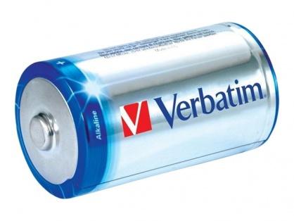 Set 2 baterii tip C alcaline, Verbatim 49922