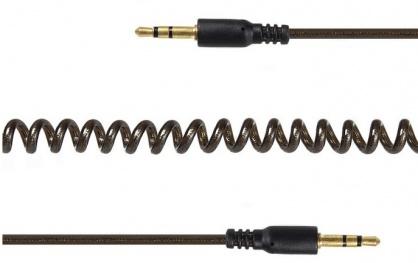 Cablu audio jack stereo 3.5mm spiralat T-T 2m, Gembird CCA-405-6