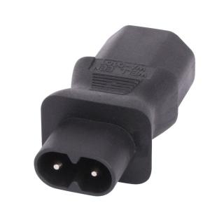 Adaptor IEC C8 2 pini casetofon IEC C13 3 pini T-M, Lindy L30451