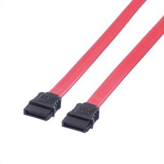 Cablu SATA II 3 Gb/s drept/drept rosu 0.5m, Roline 11.03.1555