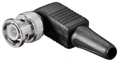 Conector BNC de lipit in unghi 90 grade, Goobay 11338