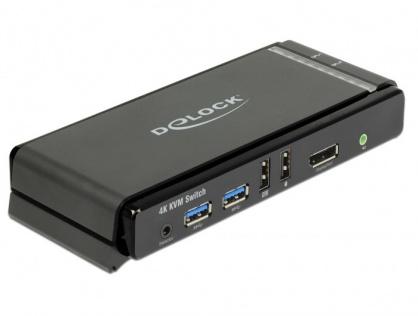 KVM Switch DisplayPort 1.2 4K 60Hz cu USB 3.0 si Audio, Delock 11467