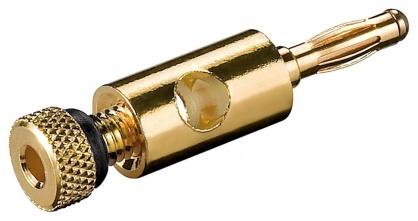 Conector banana aurit 4 mm, Goobay 11683