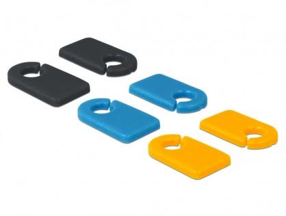 Set 6 buc clema cu marcator pentru auto-etichetare, Delock 18293