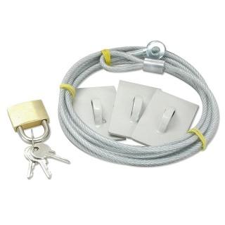 Kit cablu antifurt cu cheie, Lindy L20275