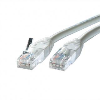 Cablu retea UTP Cat.5e gri 1m cupru, Roline 21.15.0501
