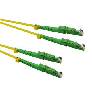 Cablu fibra optica duplex LSH - LSH, APC ground, LSOH, Galben 0.5m, Roline 21.15.9500
