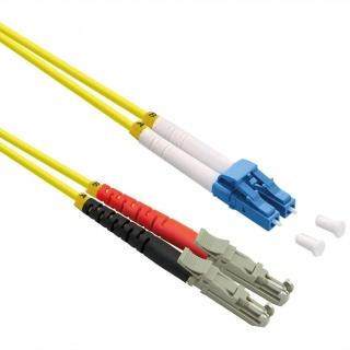 Cablu fibra optica duplex LSH APC - LC UPC, LSOH, Galben 2m, Roline 21.15.9512