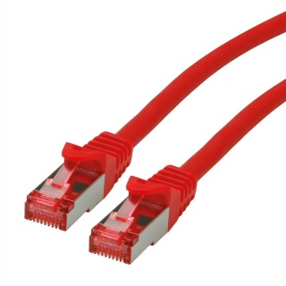 Cablu de retea SFTP cat 6 Component Level LSOH rosu 0.3m, Roline 21.15.2952