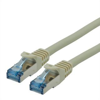 Cablu de retea S/FTP Cat.6A, Component Level, LSOH Gri 0.3m, Roline 21.15.2970
