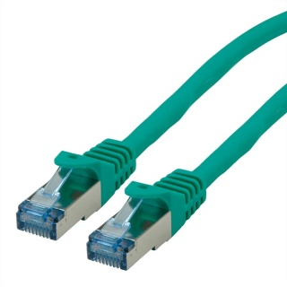 Cablu de retea S/FTP Cat.6A, Component Level, LSOH Verde 0.3m, Roline 21.15.2973