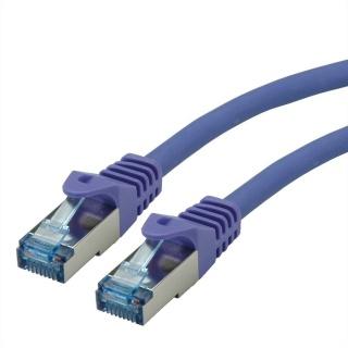 Cablu de retea S/FTP Cat.6A, Component Level, LSOH mov 10m, Roline 21.15.2937