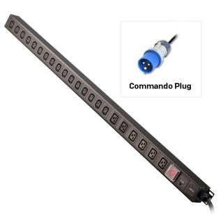 PDU vertical Commando plug la 22 porturi (6 x IEC C19 + 16 x IEC C13) 3m 32A, Lindy L29989