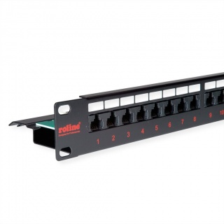 Patch Panel UTP Cat.6, 24 porturi, negru, Roline 26.11.0362