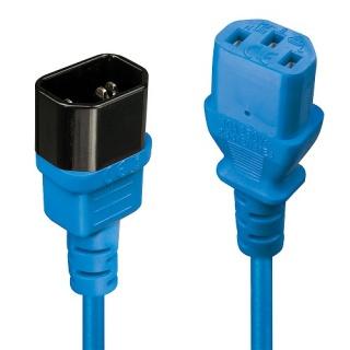 Cablu prelungitor alimentare IEC C13 - C14 0.5m Bleu, Lindy L30470