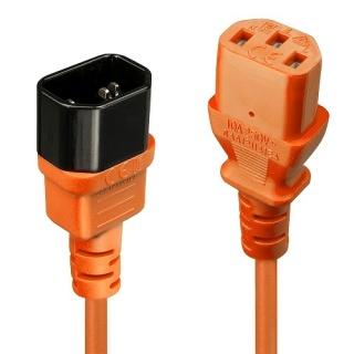 Cablu prelungitor alimentare IEC C13 - C14 0.5m Orange, Lindy L30514