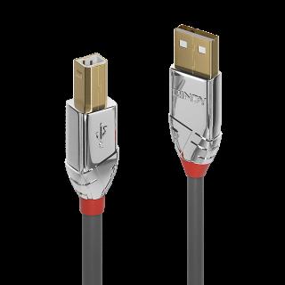 Cablu USB 2.0 tip A la tip B 1m Cromo Line, Lindy L36641