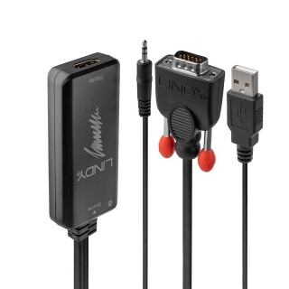 Convertor VGA la HDMI T-M cu audio si alimentare USB, Lindy L38183
