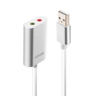 Placa de sunet USB-A la 2 x Jack 3.5mm, Lindy L42926