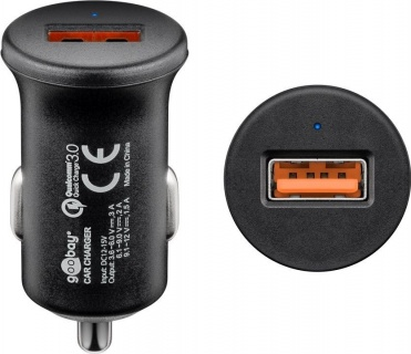 Incarcator auto 1 x USB Quick Charge/Fast Charger 3.0 3A, Goobay 45162