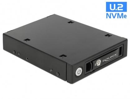 "Rack mobil 3.5"" pentru 1 x 2.5"" U.2 NVMe SSD sau HDD/SSD SATA/SAS, Delock 47232"