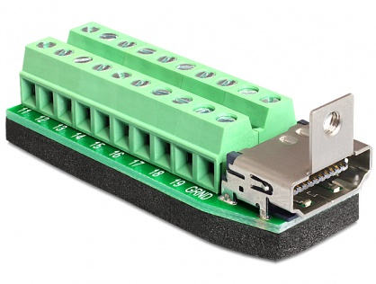 Adaptor HDMI mama la bloc terminal 20 pini, Delock 65168