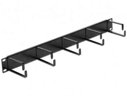 """Organizator cabluri pentru Rack 19""""/1U cu inele orizontale metal, 42496"""