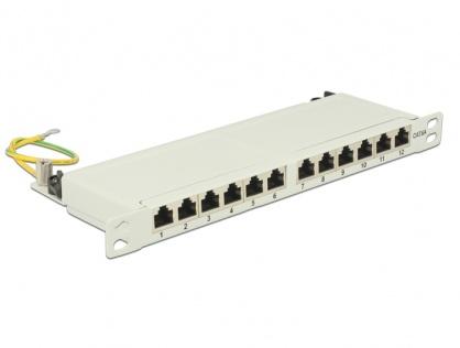 """Patch Panel 10"""" 12 porturi Cat.6A 0.5U gri, Delock 43311"""