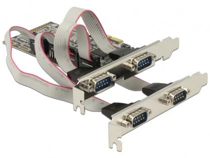 PCI Express cu 4 x Serial RS232, Delock 89178
