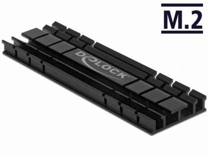 Cooler (ventilator) flat 70 mm din aluminiu pentru SSD M.2, Delock 18285