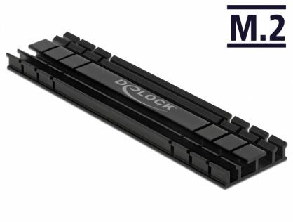 Cooler (ventilator) flat 100 mm din aluminiu pentru SSD M.2, Delock 18286