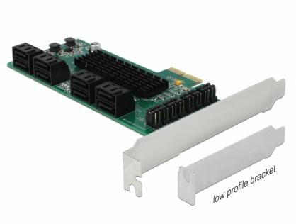 PCI Express cu 8 porturi SATA III, Delock 90391
